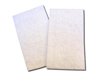 "Flat White Poly Fibrous Media, 18-1/2"" X 10-3/4"" x 3/4""  for Technotrans, Pkg (4)"
