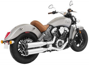 Freedom Performance Exhaust 4 inch Liberty Slip On Mufflers for Indian Scout Models '15-17 (Select Finish)