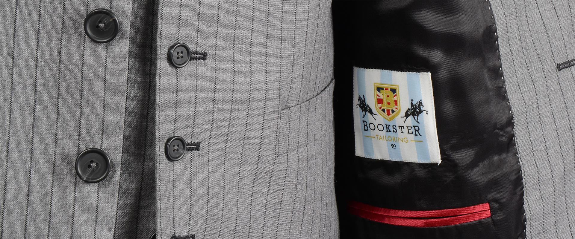 Grey/Black Chalk Stripe Suit
