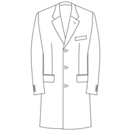 Made to Measure Single Breasted Overcoat - Cotton