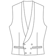 Made to Measure Double Breasted Waistcoat - Cotton