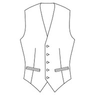 Made to Measure Single Breasted Waistcoat - Coating