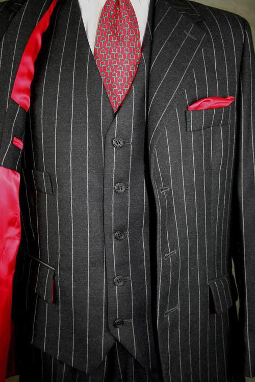 Charcoal Chalk Stripe Suit