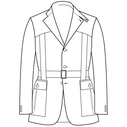 Made to Measure Full Norfolk Jacket - Cotton