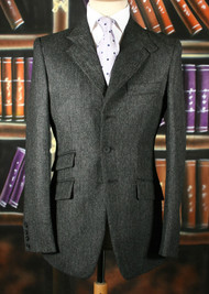 Charcoal Herringbone Tweed Jacket