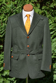 Green Loden Wool Alpaca Full Norfolk Jacket