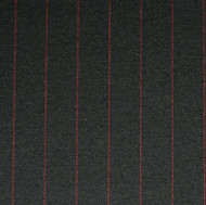 Black 1.75cm Red Pinstripe
