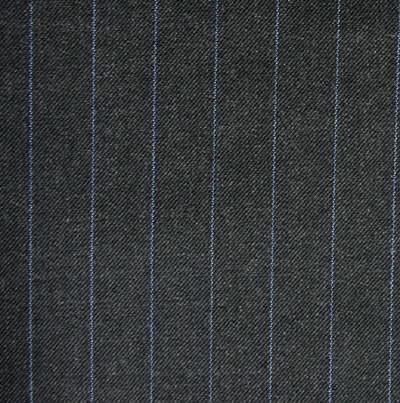 Charcoal 1.75cm Blue Pinstripe