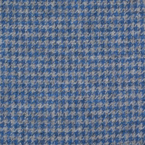 Blue Houndstooth Tweed