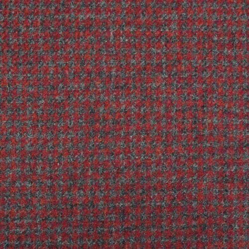 Cherry Houndstooth Tweed