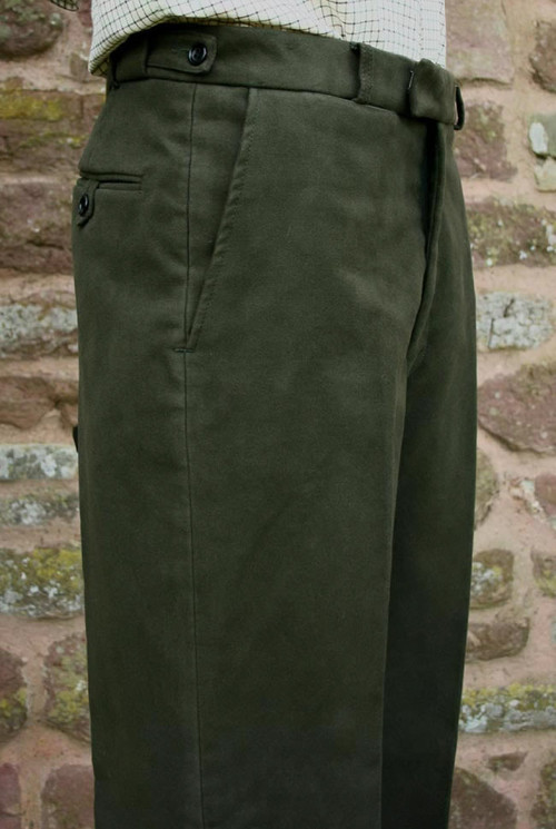 Pinewood Green Moleskin Trousers