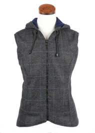 Women's Casual Hooded Tweed Gilet