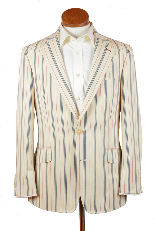 Vintage Stripe Cotton Blazer