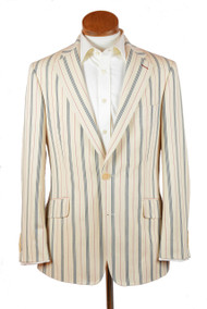 Vintage Stripe Cotton Blazer
