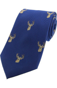 Stag Tie Blue