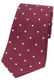 Wine Polka Dot Tie