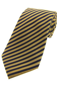 Gold/Navy Stripe Tie