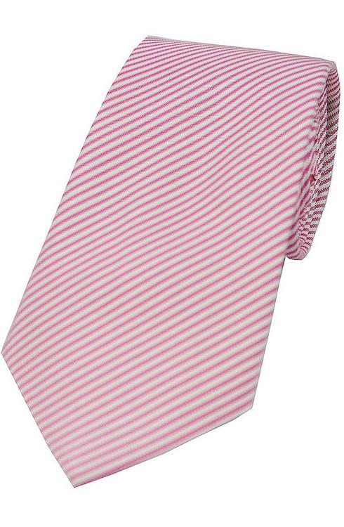 Soft Red/White Stripe Tie
