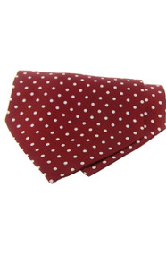 Polka Dot Silk Cravat Wine