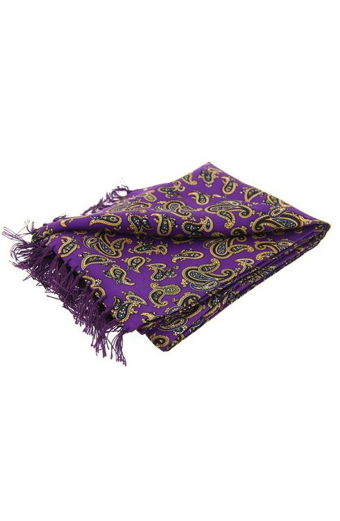 Purple Paisley Silk Scarf