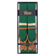 Luxury Button Braces Green
