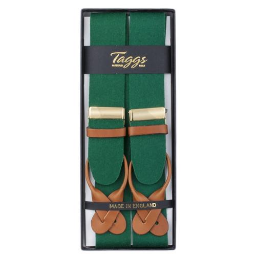 Luxury Button Braces Green