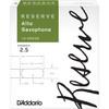 D'Addario Reserve Alto Saxophone Reeds, Strength 2.5, 10-pack