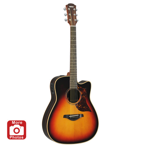 Yamaha A3RVS Acoustic-Electric Guitar; Vintage Sunburst; with Hard-Shell Case