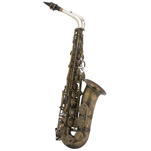 Selmer Professional Model AS42 Eb Alto Saxophone Unlacquered, Silver Plated Neck