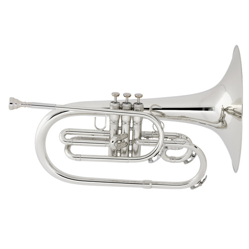 King Professional Model 1121SP Marching Mellophone, Silver Plated