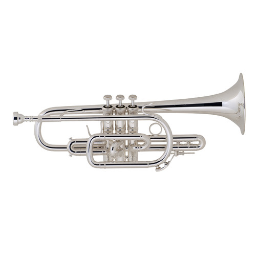 Bach Professional Model 181SML Cornet, Silver Plated