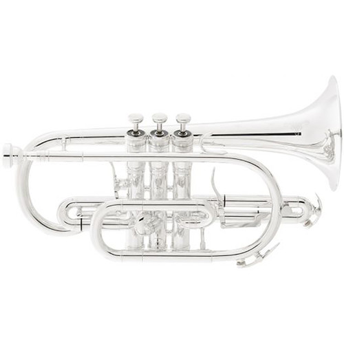 King Professional Model 2220SP Cornet, Silver Plated