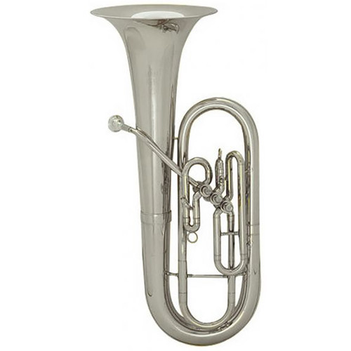King Student Model 627SP 3 Valve Baritone, Silver Plated