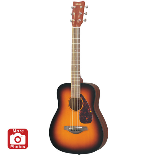 Yamaha JR2 3/4 Size Acoustic Guitar with Gig Bag; Tobacco Sunburst