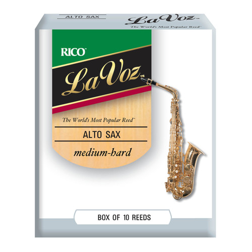 La Voz Alto Sax Reeds, Strength Medium-Hard, 10-pack