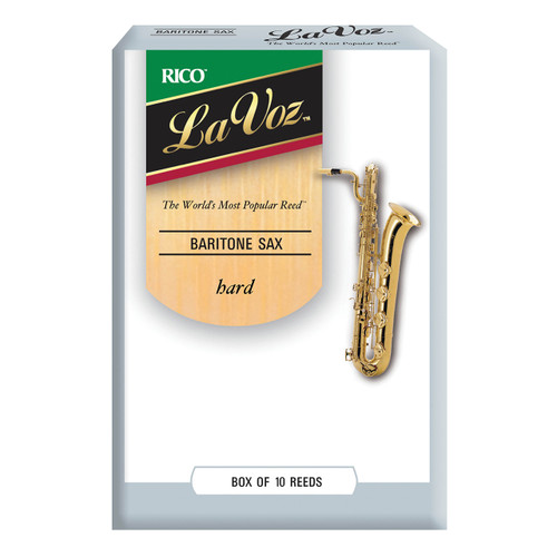 La Voz Baritone Sax Reeds, Strength Hard, 10-pack