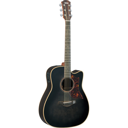 Yamaha A3RTBLHC Acoustic-Electric Guitar with Case; Translucent Black