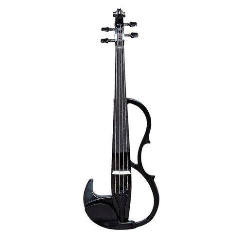 Yamaha SV-200KBLK Silent Violin; Full Size; Solid-Body; Black; Instrument Only