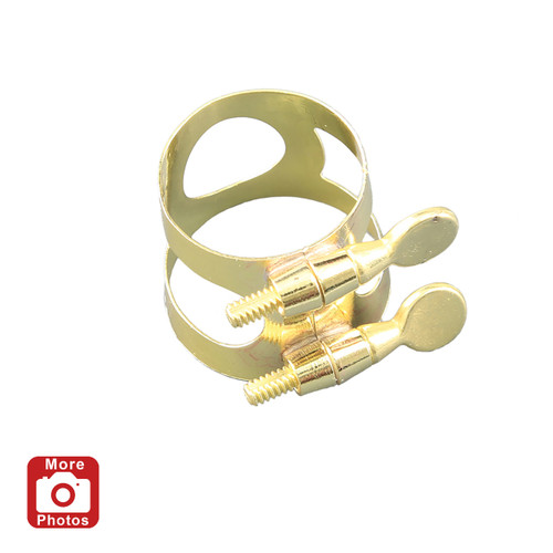 Yamaha YAC-1607 Alto Saxophone Ligature; Lacquered Brass