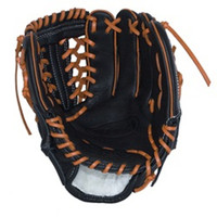 Vinco Pro 22 Series JC3333-22 Baseball Glove Mesh, Black with Orange Lace 11.5 inch