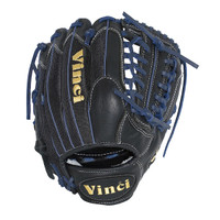Vinci Pro 22 Series Mesh Back JC3333-22 Baseball Glove Black with Navy Blue Welting and Lace 11.5 inch