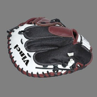 Vinci Pro Mesh Series JCV-VM Womens Fast Pitch Catchers Mitt Bordeaux, Black and White 33 inch