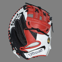 Vinci Pro Mesh Series JCV-VM Womens Fast Pitch Catchers Mitt Red, Black and White 33 inch