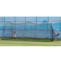 BaseHit Pitching Machine & PowerAlley 22' Batting Cage
