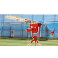 Heater Pro Pitching Machine & Xtender 24' Batting Cage