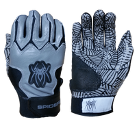 2015 Spiderz WEB Grey/Black Batting Gloves