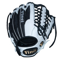 Vinci PJV1275 White Leather with Black Mesh Back - 12.75 Inch