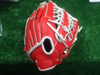 Custom Vinci 13.25 inch Red/White Lace Baseball Glove