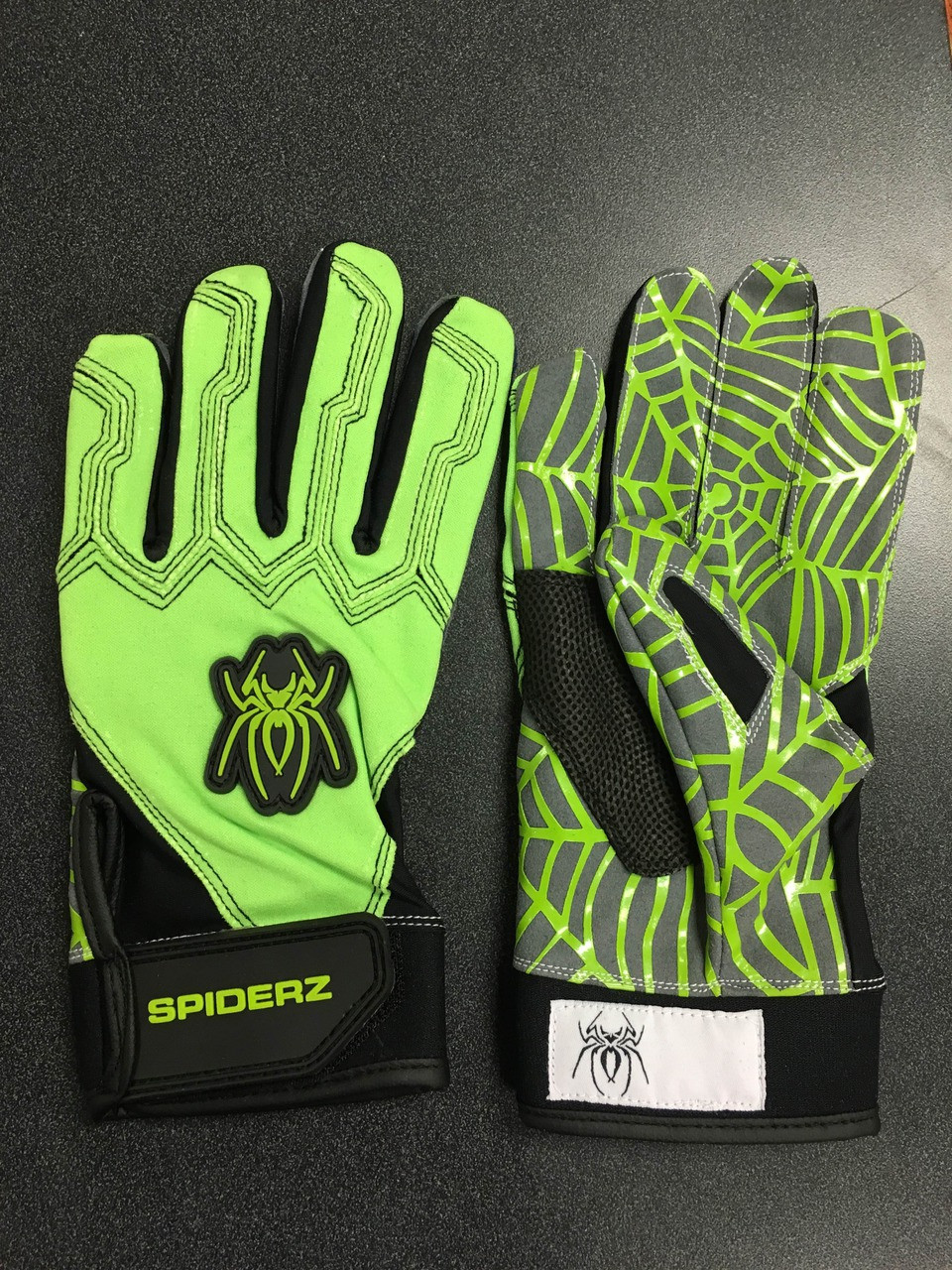green and black batting gloves