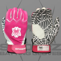 2016 Spiderz Web Pink/White Batting Gloves
